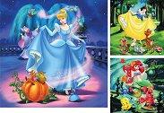 Принцесите на Дисни - Три пъзела -