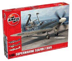 Военен самолет - Supermarine Seafire F.XVII - Сглобяем авиомодел -