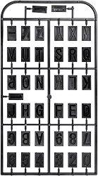 Комплект от букви и цифри за копиращо устройство MF 70 - Инструменти за моделизъм - продукт