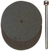 Комплект корундови дискове за рязане ∅ 38 х 0.7 mm - 5 броя - Комплект с шпиндел - продукт