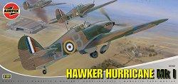 Изтребител - Hawker Hurricane MkI - Сглобяем авиомодел -