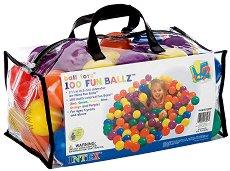 Пластмасови топки - Комплект от 100 броя -