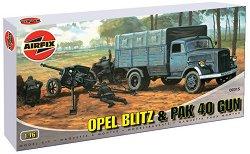 Противотанково оръдие Pak 40 и военен камион Opel Blitz - Сглобяеми модели -