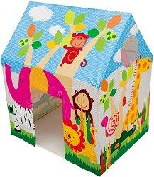 Детска палатка - къщичка - хартиен модел