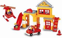 Пожарна станция - Детски конструктор - играчка