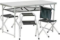 Комплект маса с 4 стола