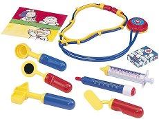 Детски докторски инструменти - В пластмасова чантичка - играчка