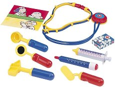 Детски докторски инструменти - В пластмасова чантичка - детски аксесоар