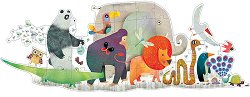 Парадът на джунглата - Голям детски пъзел - пъзел
