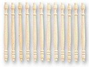 Дървени балюстри - Аксесоар за колекционерски къщи за кукли -