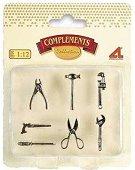 Комплект мини инструменти - За декориране за колекционерски къщи за кукли - продукт