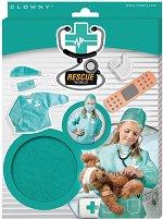 """Детска лекарска престилка - Аксесоар от серията  """"Rescue world"""" - фигури"""