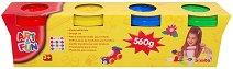 Мек пластилин за деца - Комплект от 4 цвята