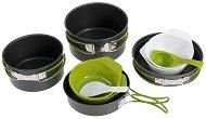 Туристически съдове за готвене и хранене - Quadri - Комплект от 10 части и торбичка за съхранение - продукт