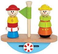 Лодка - Дървена играчка за нареждане - играчка