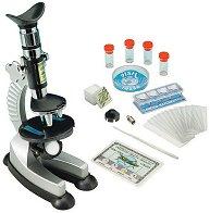 Детски микроскоп - С прожекционен механизъм и аксесоари - детски аксесоар