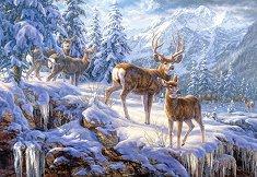 Зимна планинска светлина - пъзел