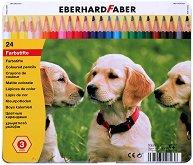 Цветни моливи - Комплект от 24 цвята в метална кутия