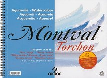 Скицник за рисуване с акварел, акрил и гваш - Montval Torchon - Плътност на хартията 270 g/m²