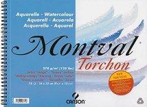 Скицник за рисуване с акварел, акрил и гваш - Montval Torchon
