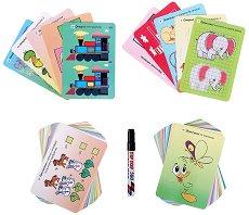 101 забавни задачи за умници на 5 - 6 години - Изтриваеми карти + маркер -