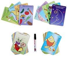 101 забавни задачи за умници на 3 - 4 години - Изтриваеми карти + маркер -