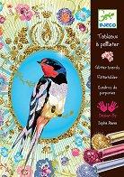 Оцветявай с брокат - Птици - Творчески комплект за рисуване - творчески комплект