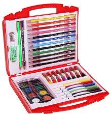 Комплект за рисуване - В пластмасово куфарче