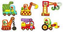 Строителни превозни средства - Шест пъзела за най-малките - пъзел
