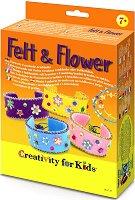 """Създай сама гривни с цветя - Творчески комплект от серията """"Creativity for Kids"""" -"""