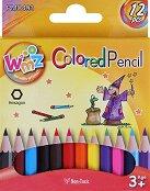 Цветни моливи - къси - Комплект от 12 цвята