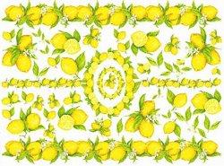 Декупажна хартия - Лимони 114 - Размери 50 x 70 cm