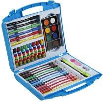 Комплект за рисуване от 38 части - В пластмасово куфарче