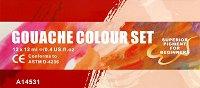 Темперни бои - Комплект от 12 цвята x 12 ml