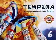 Темперни бои - Комплект от 6 цвята x 16 ml