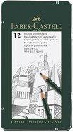 Моливи - Castell 9000 - Комплект 12 броя в метална кутия