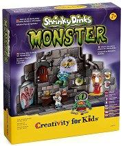 """Създай сам лаборатория за чудовища - Творчески комплект от серията """"Creativity for Kids"""" - хартиен модел"""