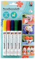 Маркери за порцелан - Porcelain Painter - Комплект от 5 цвята