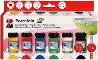 Бои за порцелан и стъкло - Комплект от 6 цвята x 15 ml