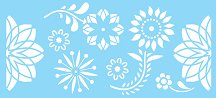 Шаблон - Щастливи цветя