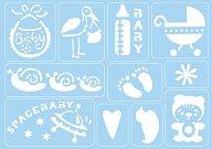 Самозалепващи се шаблони - Бебе - Комплект от 11 мотива