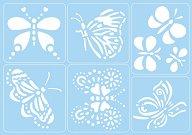 Самозалепващи се шаблони - Пеперуди - Комплект от 6 мотива