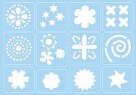 Самозалепващи се шаблони - Ретро - Комплект от 12 мотива