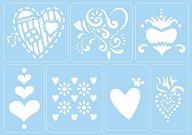 Самозалепващи се шаблони - Любов - Комплект от 7 мотива