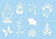 Самозалепващи се шаблони - Wellbeing - Комплект от 9 мотива