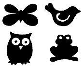 Мини печати - Животни - Комплект от 4 броя