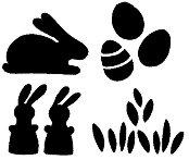 Мини печати - Великден - Комплект от 4 броя