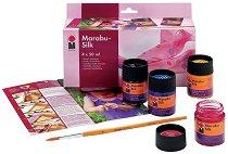 Бои за коприна - Комплект от 4 цвята x 50 ml