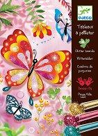 Оцветявай с брокат - Пеперуди - Творчески комплект за рисуване - играчка