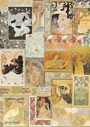 Декупажна хартия - Постери 039 - Дизайн на Anne Zada